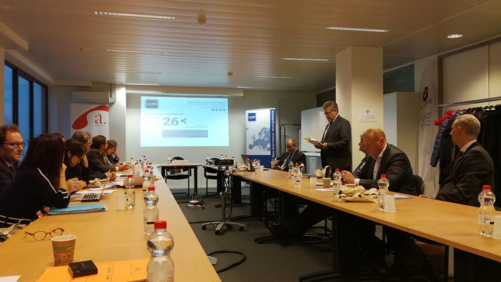 Rencontre avec le C.C.B.E. et les représentants bruxellois d'autres barreaux européens