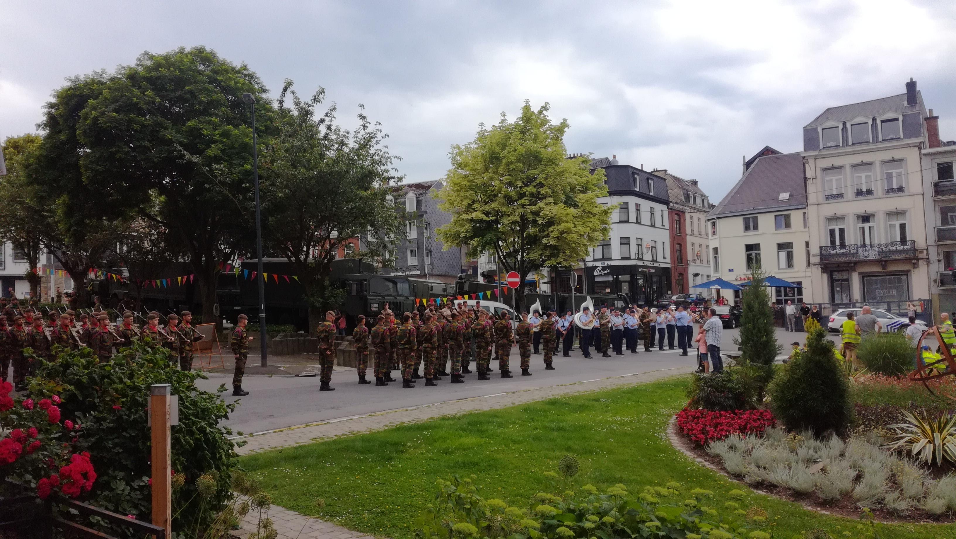 Défilé à l'occasion du 50e anniversaire Bataillon du 12e de Ligne à Spa - Place Salée à Spa, 19/06/2019